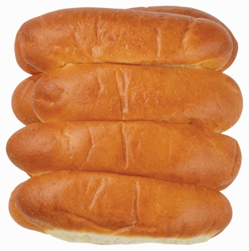 Bakery Fresh Hot Dog Buns Perspective: front