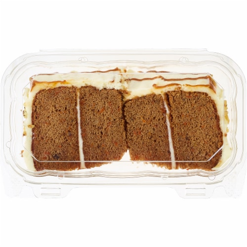 Bakery Fresh Goodness 2 Slice Carrot Cake with Cream Cheese Icing Perspective: front