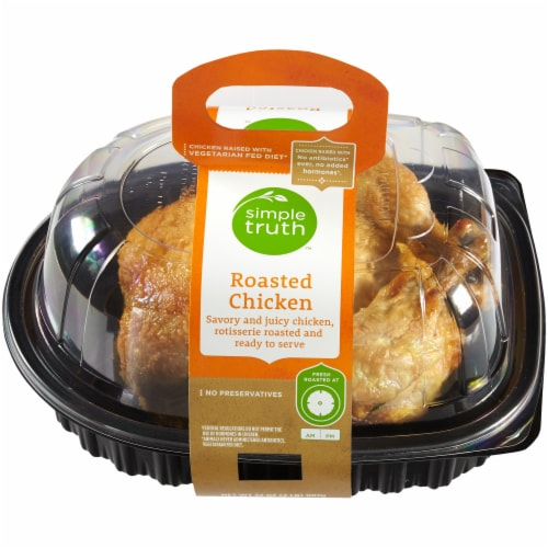 Simple Truth™ Hot Whole Roasted Chicken (NOT AVAILABLE FOR ORDERS BEFORE 11:00 am DAILY) Perspective: front