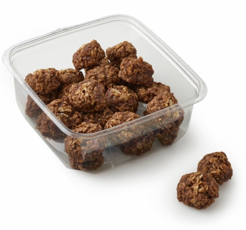 Bakery Fresh Goodness Mini Peanut Butter Fudge No Bake Cookies Perspective: front