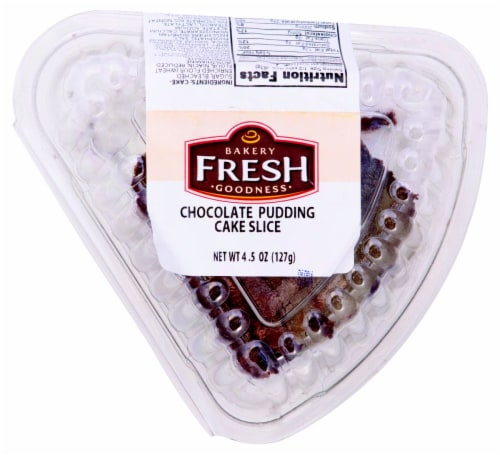 Bakery Fresh Goodness Chocolate Pudding Cake Slice Perspective: front
