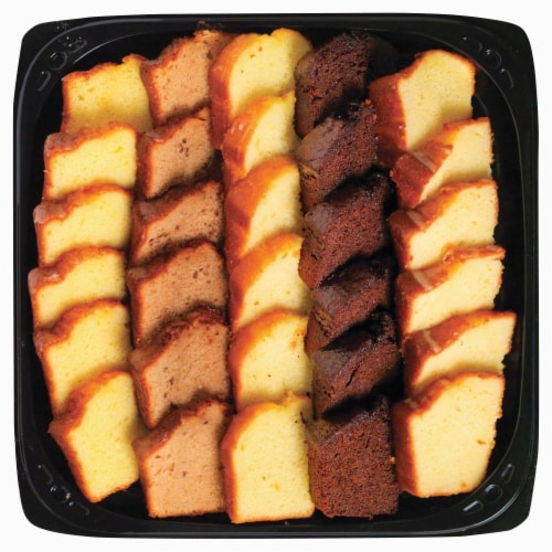 Bakery Fresh Goodness Variety Pudding Cake Slice Tray Perspective: front