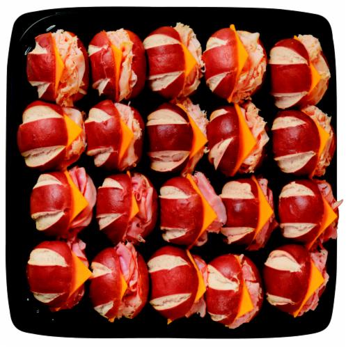 Pretzel Slider Sandwich Platter Perspective: front
