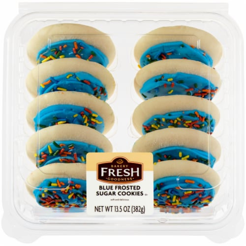 Bakery Fresh Goodness Blue Frosted Sugar Cookies Perspective: front