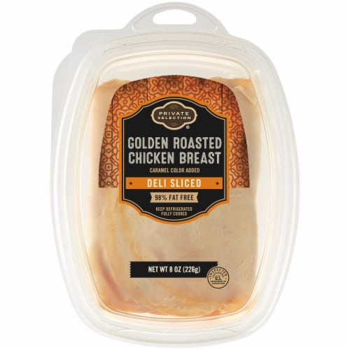 Private Selection® Deli Sliced Golden Roasted Chicken Breast Perspective: front