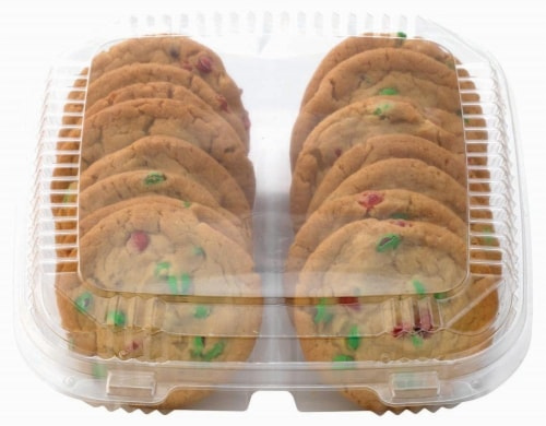 Bakery Fresh Goodness Red & Green M&M Cookies Perspective: front