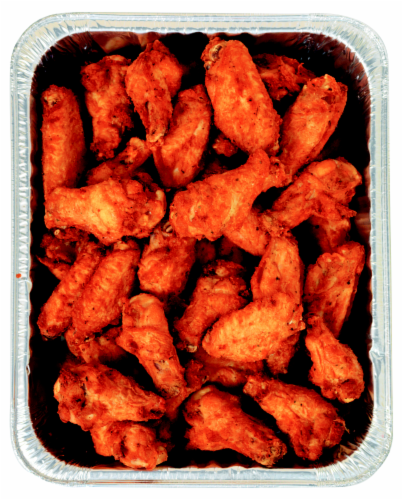 Roasted Bone-In Hot Wing Party Pan Perspective: front