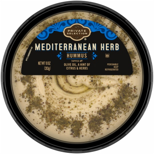 Private Selection® Mediterranean Herb Hummus Perspective: front