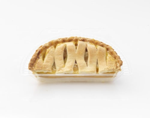 Bakery Peach Pie Half Perspective: front