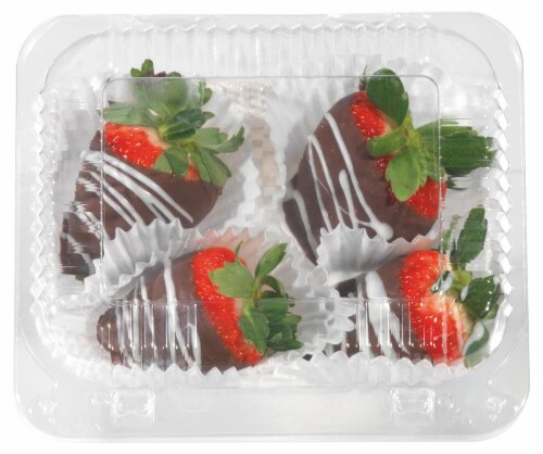Chocolate Dipped Strawberries Perspective: front