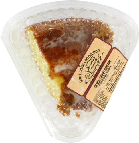 Kroger Sour Cream Pudding Slice Cake Perspective: front