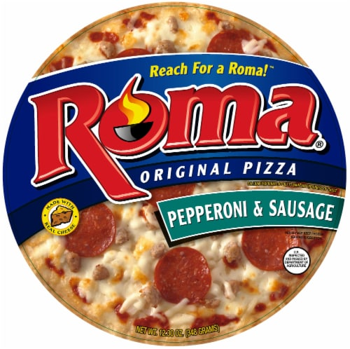Roma Original Pepperoni & Sausage Pizza Perspective: front