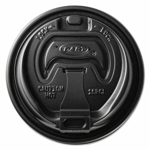 Solo Cup SCCOPT316B 10-24 oz Optima Reclosable Lids for Paper Hot Cups, Black - 1000 per Case Perspective: front