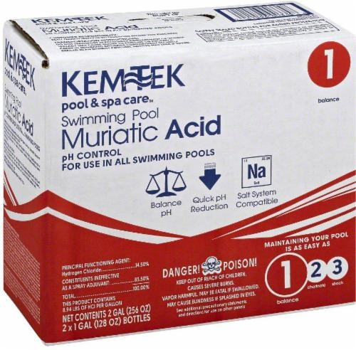 Kem-Tek Swimming Pool Muriatic Acid - 2 Pack Perspective: front