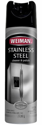 Weiman Stainless Steel Cleaner and Polish Perspective: front