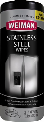 Weiman Stainless Steel Wipes Perspective: front
