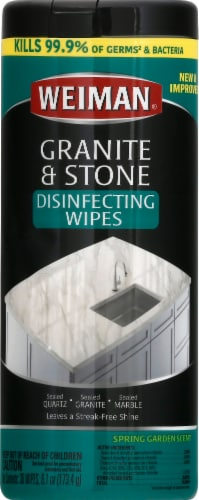 Weiman Granite & Stone Daily Wipes Perspective: front