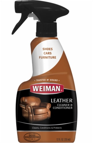 Weiman  Lemon Scent Leather Cleaner And Conditioner  12 oz. Liquid - Case Of: 6; Perspective: front