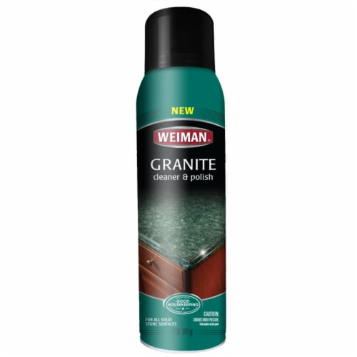 Weiman  Vanilla Scent Granite Cleaner and Polish  17  Spray - Case Of: 4; Perspective: front