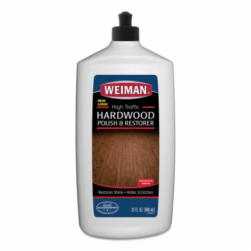 Weiman Products 240099 32 oz High Traffic Hardwood Polish & Restorer Perspective: front