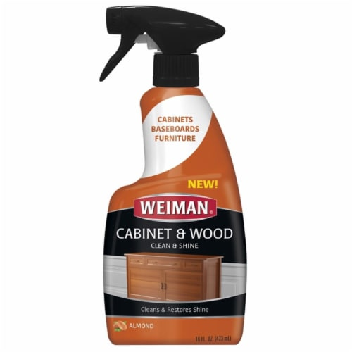 Weiman  Cabinet & Wood Cleaner  16 oz. Spray - Case Of: 6; Perspective: front