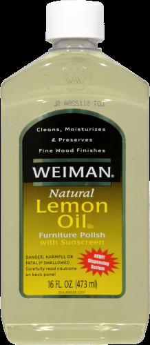 Weiman Natural Lemon Oil Furniture Polish Perspective: front