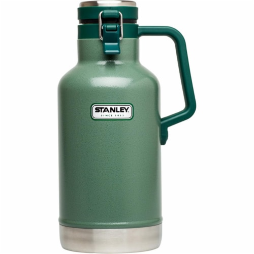 Stanley 4.92 in. W x 6.48 in. L Hammertone Green Stainless Steel Growler - Case Of: 2; Each Perspective: front