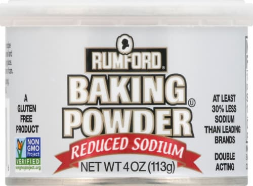Rumford Reduced Sodium Baking Powder Perspective: front