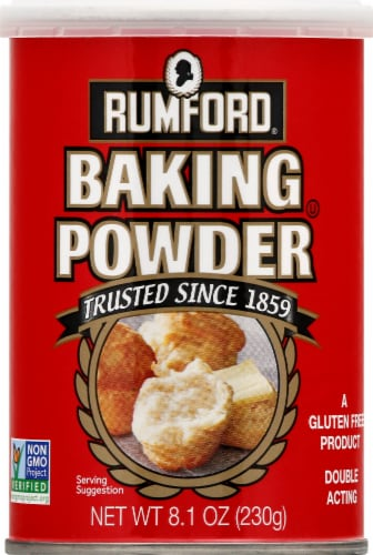 Rumford Double Acting Baking Powder Perspective: front
