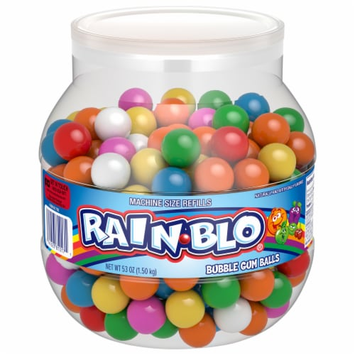 Rain-Blo Bubble Gum Balls Assorted Perspective: front