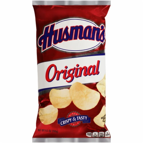 Husman's Original Plain Potato Chips Perspective: front