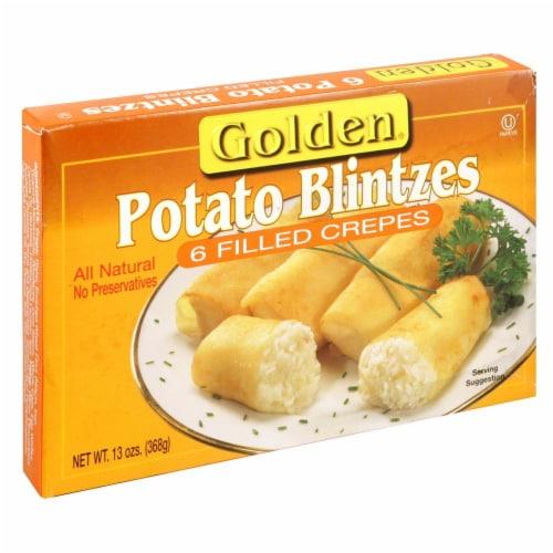 Golden Potato Blintzes Perspective: front