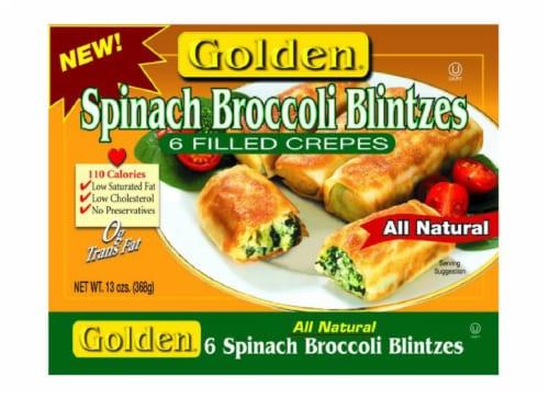 Golden Vegetable Blintzes 6 Count Perspective: front