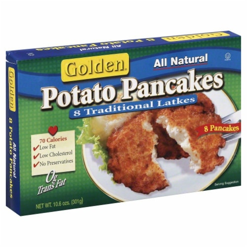 Golden Potato Pancakes Perspective: front