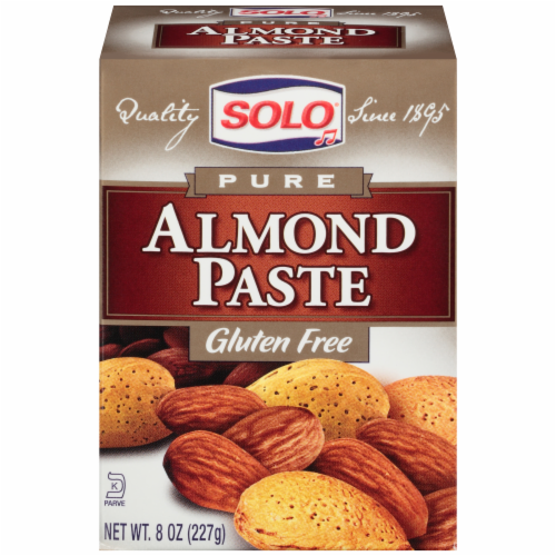 Solo Pure Gluten Free Almond Paste Perspective: front