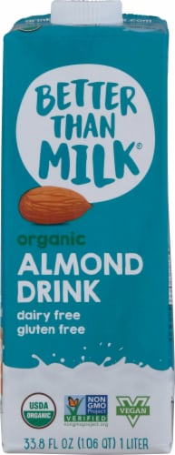 Better Than Milk Organic Almond Drink Perspective: front