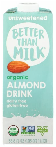 Better Than Milk Organic Unsweetened Almond Drink Perspective: front