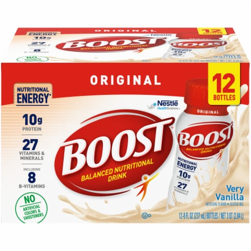 Boost Very Vanilla Nutritional Drink Perspective: front
