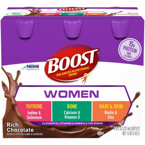 Boost Women Rich Chocolate Nutritional Drink Perspective: front