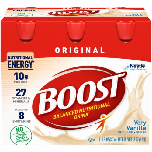 Boost Original Very Vanilla Nutritional Drinks Perspective: front