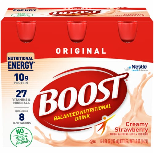 Boost Creamy Strawberry Nutritional Drink Perspective: front