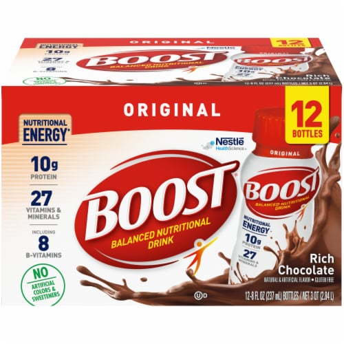 Boost Original Rich Chocolate Nutritional Drink Perspective: front