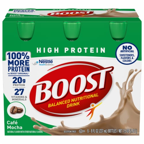 Boost High Protein Cafe Mocha Protein Drink Perspective: front