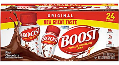Nestle BOOST® Plus Nutritional Rich Chocolate Drink Perspective: front