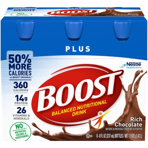 Boost Plus Rich Chocolate Nutritional Drink Perspective: front