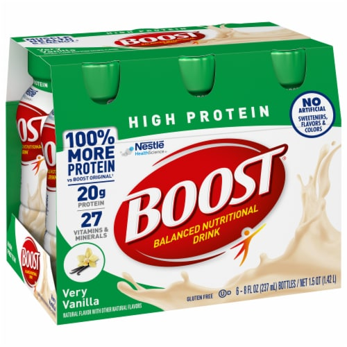 Boost High Protein Very Vanilla Balanced Nutritional Drink Perspective: front