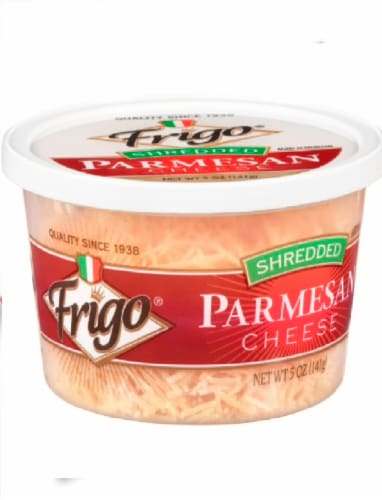 Frigo Shredded Parmesan Cheese Perspective: front