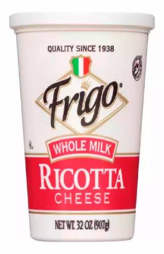 Frigo Whole Milk Ricotta Cheese Perspective: front