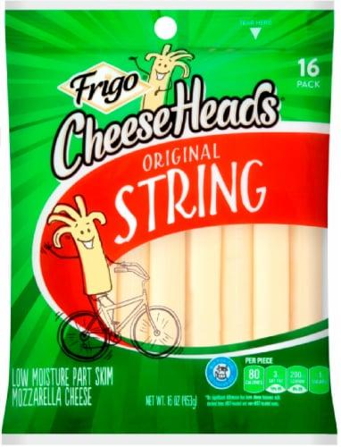 Frigo Cheese Heads Low Moisture Part Skim Original Mozzarella String Cheese Perspective: front