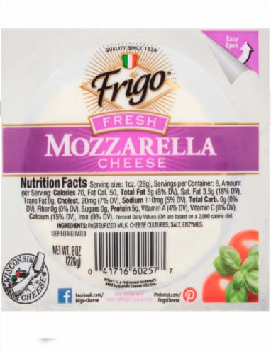Frigo Fresh Mozzarella Cheese Perspective: front